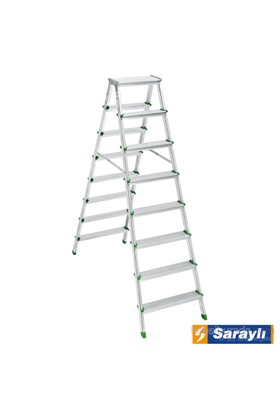 Saraylı Alüminyum Merdiven Çift Taraflı 8+8