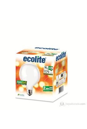 Ecolite Halosoft Enerji Tasarruflu Akkor Halojen Ampul Globe G125 70W Soft