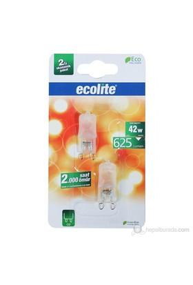 Ecolite G9 Enerji Tasarruflu Kapsul Halojen Ampul 42W Soft Işık
