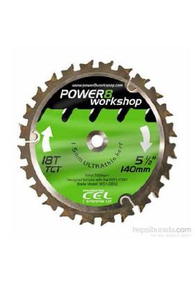 Daire Testere 140MM 18 Diş CS01 İçin (Power8 Workshop PRO WS4E Uyumlu)