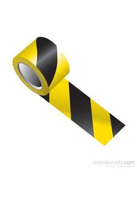 Sarı Siyah İkaz Bandı 500 Metre