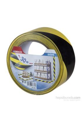 Geko Yer İşaretleme Ve İkaz Bantı Pvc Sarı/Siyah 50Mmx30m Sıcur