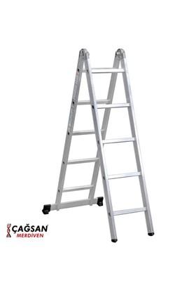 Çağsan 2x5 Basamaklı Katlanır Alüminyum Merdiven