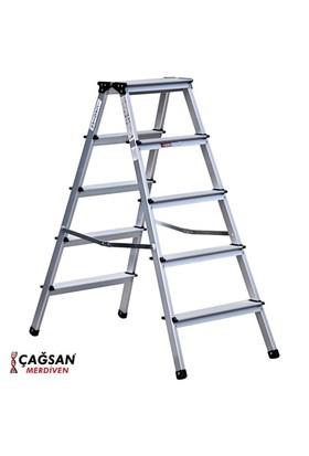 Çağsan 5 Basamaklı Olimpos Çift Çıkışlı Alüminyum Merdiven
