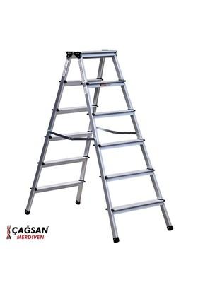 Çağsan 6 Basamaklı Olimpos Çift Çıkışlı Alüminyum Merdiven