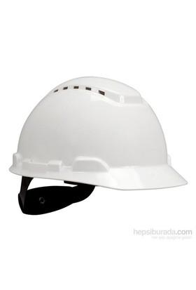 3M H700 Enseden Ayarlı Vidalı UV'li Havalandırmalı Beyaz Baret