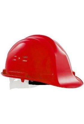 Essafe 1540 Ce'li Hava Delikli Kulaklık Takılabilir Baret Kırmızı
