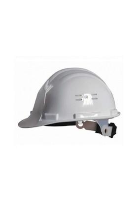 Essafe 1548 Ce'li Enseden Ayar Mekanizmalı Hava Delikli Kulaklık Takılabilir Baret Beyaz