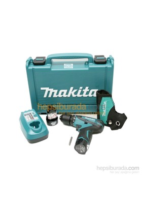 Makita DF330DWE 10.8 V / 1.3 Ah Lityum Akülü Matkap Vidalama (Çift Akülü)
