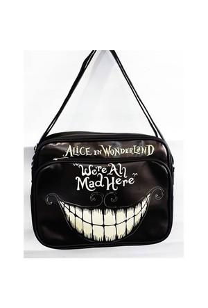 Köstebek Alice In Wonderland - Were All Mad Here Çanta