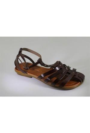 Punto 661078-02 Kadın Günlük Deri Sandalet