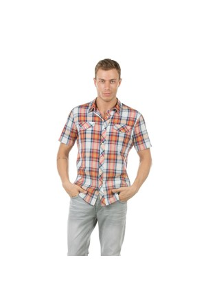 Colin's Turuncu Erkek Gömlek Kısa Kol