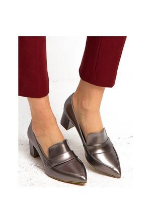 Mecrea Exclusive Wiley Platin Topuklu Ayakkabı