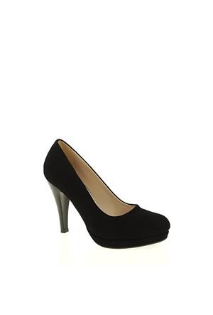 Derigo Siyah Süet Kadın Ayakkabı 181803