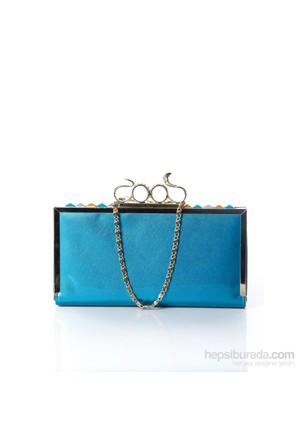 Mçs By14a001 Blue Abiye Çanta