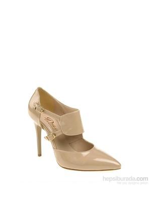 Derigo Kadın Topuklu Ayakkabı Ten Rugan