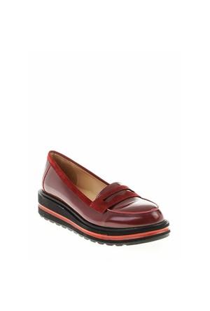 Derigo Bordo Rugan Kadın Ayakkabı 22181504