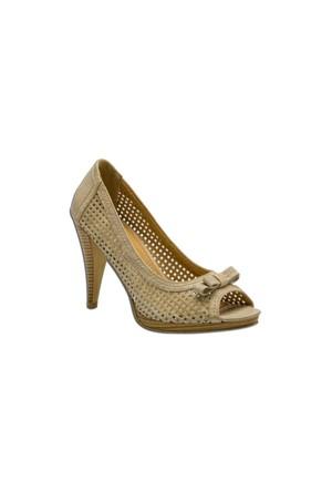 Escarpine Fileli Bej Bayan Ayakkabı