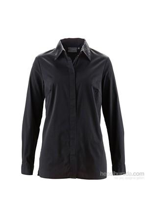 bonprix Siyah Uzun Streç Gömlek 34-54 Beden