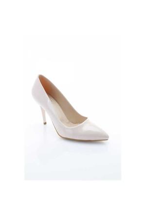 Shoes&Moda Pudra Rugan Kadın Stiletto Ayakkabı 509-6-Nz013ı02