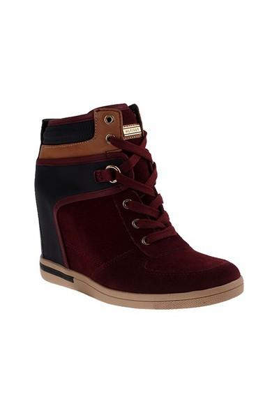 Tommy Hilfiger Fw56819709 Kadın Ayakkabı Mıdnıght/Zınfandel