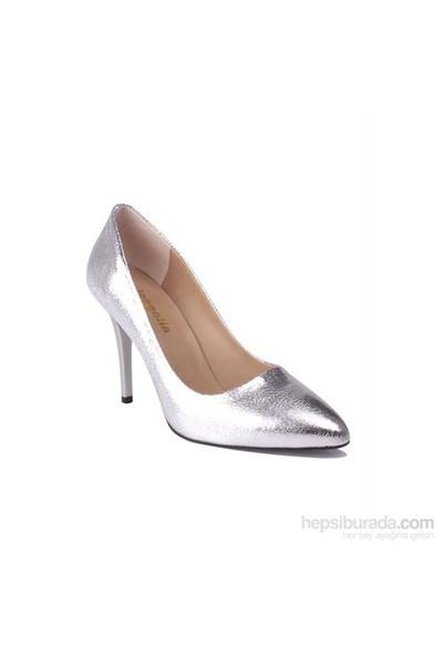 Loggalin Kadın Topuklu Ayakkabı Gümüþ