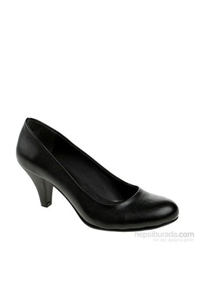 Derigo Kadın Topuklu Ayakkabı Siyah Mat