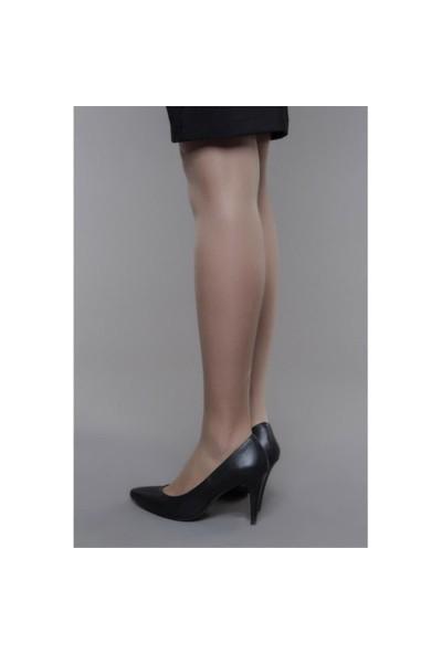 Shoes Time Topuklu Ayakkabı Siyah Deri 15K704