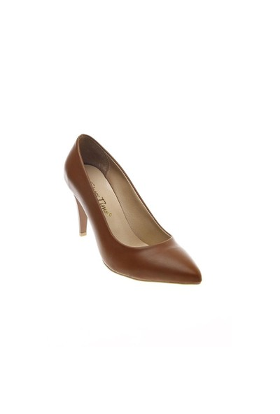 Shoes Time Topuklu Ayakkabı Taba Deri 15K704