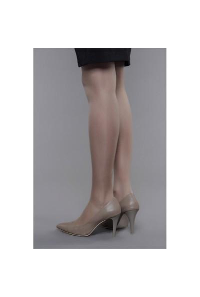 Shoes Time Topuklu Ayakkabı Vizon Deri 15K704