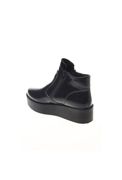 Shoes Time Günlük Bot Siyah Rugan 15K203