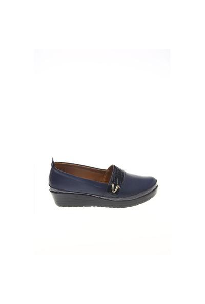 Shoes Time Günlük Ayakkabı Lacivert Deri Lacivert Kroko 15K585150