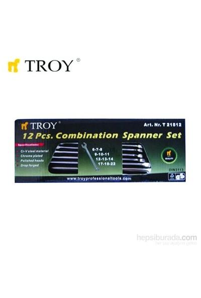 Troy 21512 Kombine Anahtar Takımı - 12 Parça (6-22Mm)