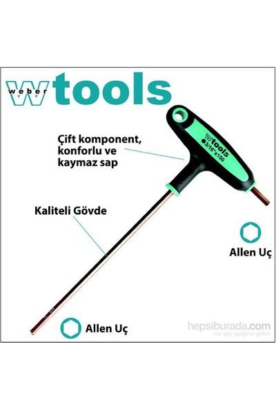 Weber Tools T Saplı Allen Tornavida 5/32 X 150 Mm