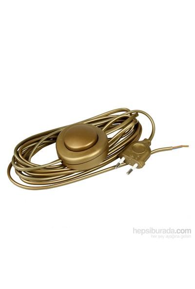 Aytaş Aydınlatma - Anahtarlı - Fişli Lambader Kablosu - Altın