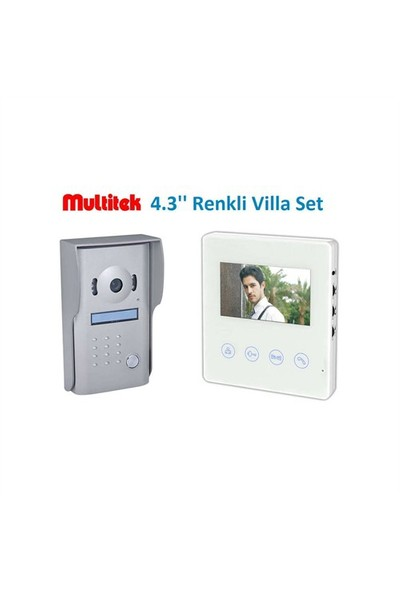 "Multitek 4,3"" Renkli Lcd Villa Set"