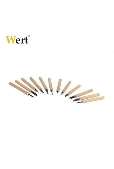 Wert 2512 Ahşap Oyma Bıçak Seti (12 Parça)