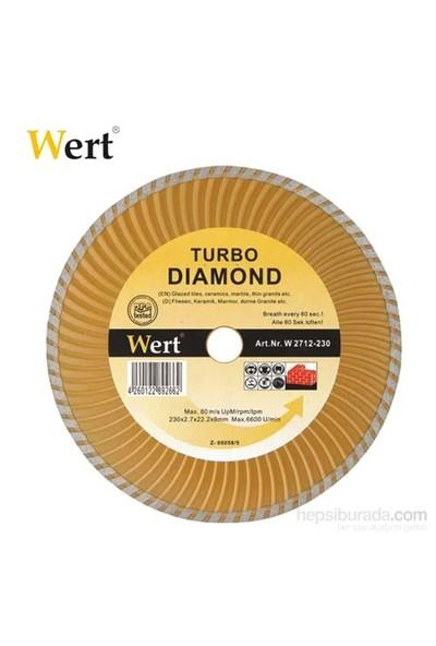 Wert 2712-115 Turbo Kanallı Elmas Testere (115Mm)