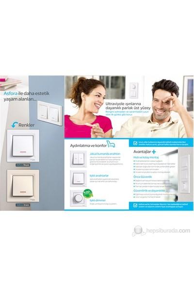 Schneider Electric Asfora Anahtar Beyaz Çerçeveli