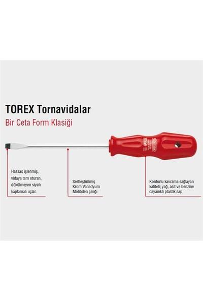 Ceta Form 4000M/6St1 6 Parça Torex Tornavida Takımı - Düz/Yıldız