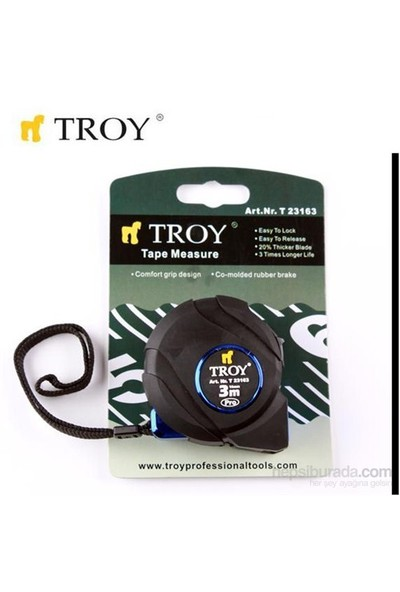 Troy 23163 Stoperli Şerit Metre (3Mx16mm)