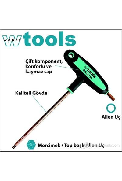 Weber Tools Top Başlı T Saplı Allen Tor. 1/8 X 100 Mm