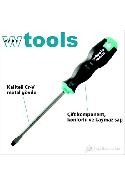 Weber Tools Düz Uçlu Tornavida 3.0 X 75 Mm