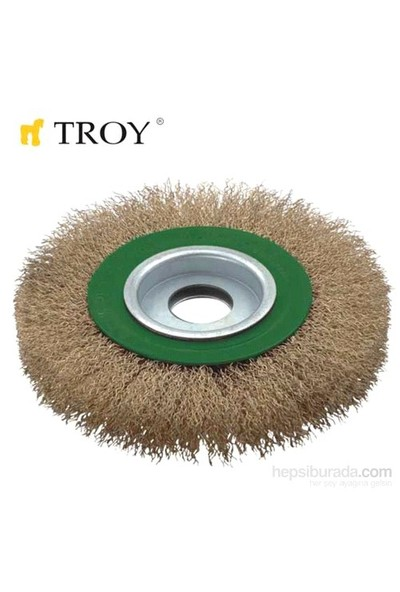 Troy 27704-178 Saçaklı Daire Fırça (178Mm)