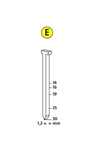 Novus E Tip J/19 Çivi 1000 Li Paket
