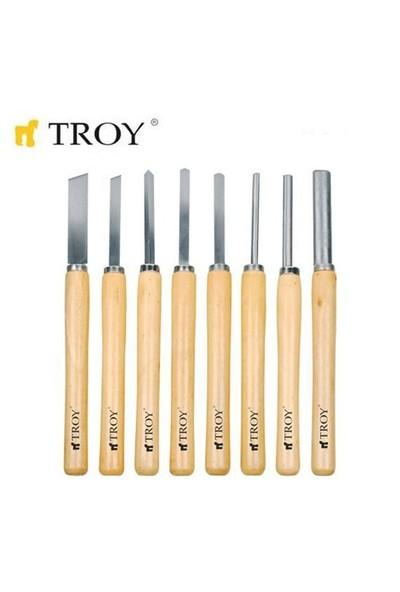 Troy 25008 Ahşap Torna Bıçak Seti (8 Parça)