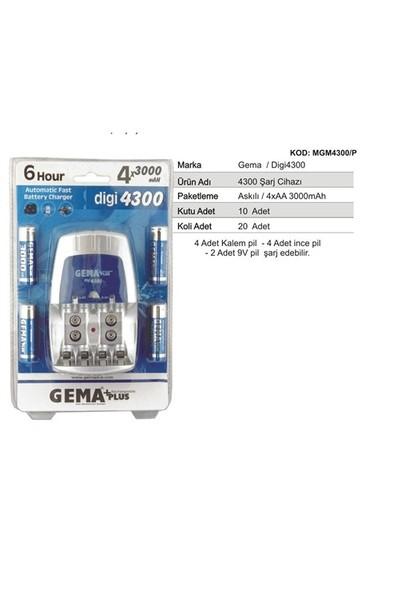 Gema PLus 4300B Şarj Timer Fonksiyonlu Şarj Cihazı