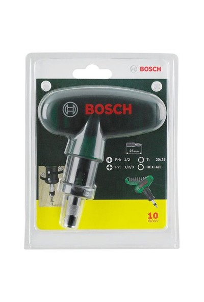 Bosch 10 Parça Cırcırlı Tornavida Seti 019510