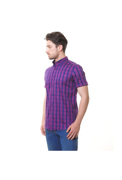 Karaca Erkek Regular Fit Casual Gömlek - Fuşya