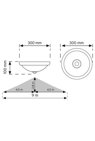 Nade 360 Derece Sensörlü Tavan Armatürü 00999